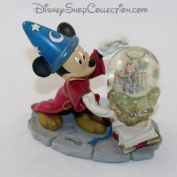 Snow globe Mickey DISNEYLAND PARIS Fantasia l'apprentie sorcier figurine boule à neige 13 cm