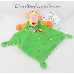 Doudou flat Tigger NICOTOY Disney green cubes Abc balloon stars diamond 30 cm