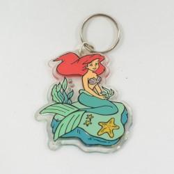 Porte clés Ariel DISNEY La petite siréne carré vintage plastique