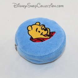 Winnie round coin holder the blue plush disney pooh padded 10 cm
