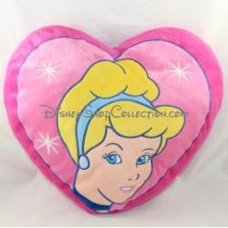 Cojín en forma de corazón DISNEY Cenicienta rosa 38 cm