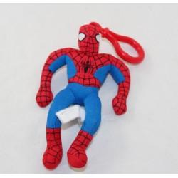 Porte clés peluche Spiderman PLAY BY PLAY Marvel l'homme araignée rouge bleu 15 cm