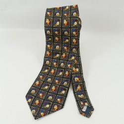 Donald DISNEYLAND PARIS azul hombre 100% corbata de seda