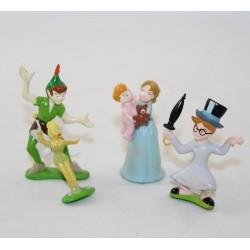 Ensemble de mini figurines Peter Pan DISNEY lot de 4 Wendy  John Michel ...