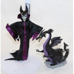 Disney STORE Mini Doll And Dragon Mini Evil Doll Set