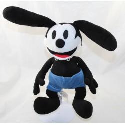 Peluche lapin Oswald DISNEY PARKS The lucky rabbit le lapin chanceux noir bleu 28 cm