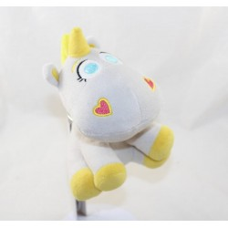 Peluche Bouton d'or licorne DISNEY PIXAR Toy Story 3 blanc jaune 18 cm