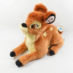 Peluche animée Bambi DISNEY BANDAI marron éternue et bouge la tête 30 cm