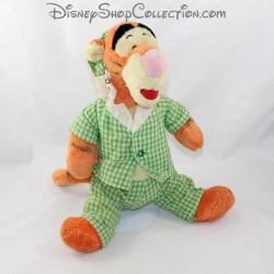 Peluche Tigrou DISNEY pyjama vert carreaux bonnet 34 cm