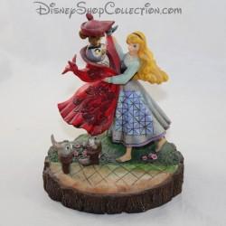 Figurine Jim Shore Aurore et le hibou DISNEY TRADITIONS La Belle au bois dormant résine 20 cm