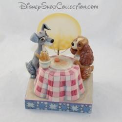 DISNEY TRADITIONS Figura de perro Jim Shore Belleza y el vagabundo A Moonlit Romance 16 cm