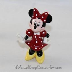 Figurine céramique Minnie DISNEY robe rouge 10 cm