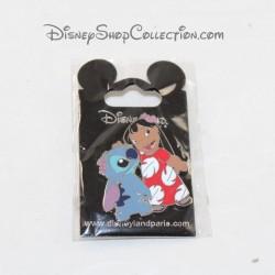 Pin's Stitch DISNEYLAND PARIS Lilo et Stitch fleur Open Edition Disney 4 cm