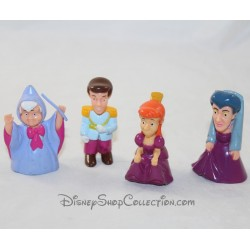 Lot of 4 figurines DISNEY Cinderella playset pvc 6 cm