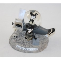 Snowglobe Minnie Mickey DISNEYLAND PARIS plane Plane Crazy 1928 black and white snowball 12 cm