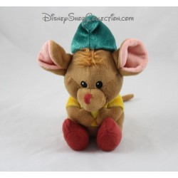 Peluche Gus Gus mouse DISNEY STORE Cinderella Animator brown green 16 cm
