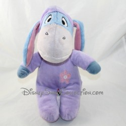 Donkey Bourriquet NICOTOY Disney purple pyjamas with hood 32 cm