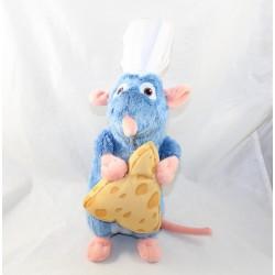 Peluche rat Remy DISNEY NICOTOY Ratatouille avec fromage bleu 38 cm