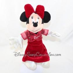 Peluche Minnie DISNEYLAND PARIS vestido rojo de noche disney 27 cm