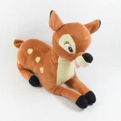 Peluche Bambi DISNEY NICOTOY couché biche marron 40 cm