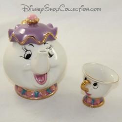 Tea service Mrs Samovar and Zip DISNEY Beauty and the Beast Mrs.Potts ceramic