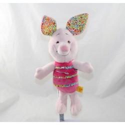 Cucciolo di maiale DISNEY BABY coccinella d'ape rosa fiorita 28 cm