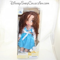 Animator Doll Belle DISNEY STORE Beauty and the Beast blue dress 38 cm