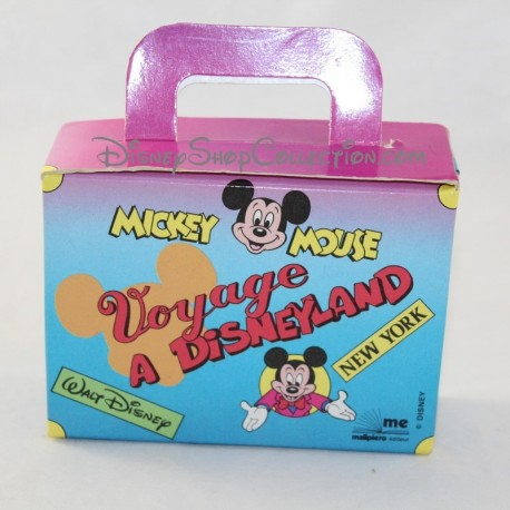 Small Mickey Mouse cardboard suitcase travel to Disneyland Paris Disney 1992