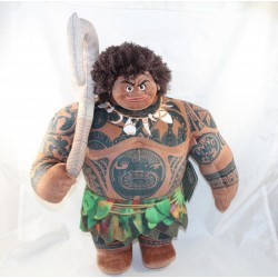 Peluche demi Dieu Maui DISNEYLAND PARIS Vaiana marron vert 47 cm