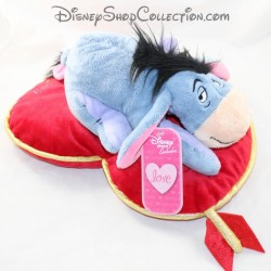 Asino Bourriquet DISNEY STORE St Valentine's Dreaming of you cuscino cuore 34 cm
