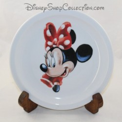 CERAMIC plate DISNEYLAND PARIS Minnie Mouse drawing Disney 21 cm