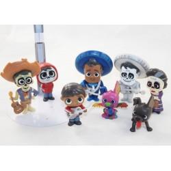 Conjunto de 8 figuras Coco DISNEY PIXAR Miguel Dante Imelda Ernesto