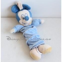 Doudou musical Mickey DISNEY BABY bleu corps en accordéon 25 cm