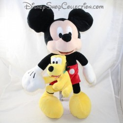 Peluche Mickey et Pluto NICOTOY Disney Mickey classique 45 cm