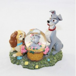 Snow globe Beauty and the tramp DISNEYLAND RESORT PARIS Lady and tramp 11 cm