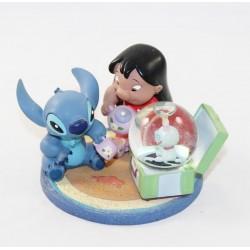 Globo de nieve Lilo y Stitch DISNEYLAND PARIS taza de té de bola de nieve Lilo-Stitch