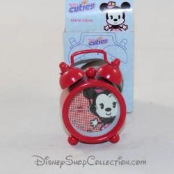 Mini réveil Minnie DISNEY Cuties rouge 6 cm