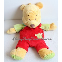 Peluche Winnie l'Ourson DISNEY range pyjama salopette rouge 55 cm