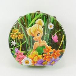 Boîte métallique Fée Clochette DISNEY Fairies ronde métal vert fleurs 15 cm