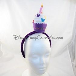 Disneyland PARIS Diadema Disney Purple Candle Cumpleaños Diadema 26 cm