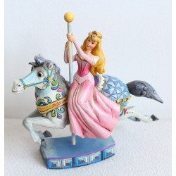 Figurine La Belle au bois dormant DISNEY TRADITIONS cheval carrousel Showcase collection