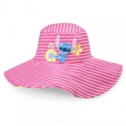 Chapeau de plage réversible Stitch DISNEY STORE Lilo & Stitch bébé rose