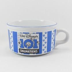 Grand bol chiots dalmatiens DISNEY Studio Moonflower les 101 dalmatiens bleu blanc céramique