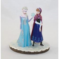 Figurine résine Elsa et Anna DISNEYLAND PARIS La Reine des Neiges Frozen statuette collection Disney 12 cm