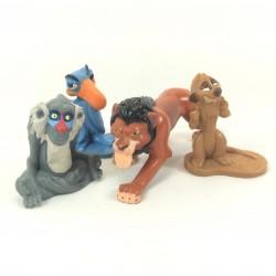 Figurines Le Roi lion DISNEY Zazu Rafiki Timon et Scar