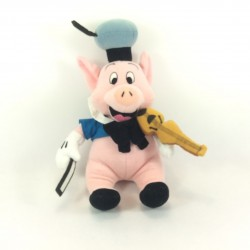 Peluche Nif-Nif cochon DISNEY Les 3 petits cochons violoniste 28 cm