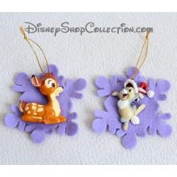 Décoration de Noël DISNEY Bambi et Pan Pan sur étoile mauve