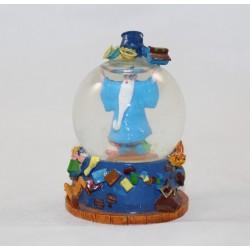 Mini snow globe Merlin l'enchanteur DISNEY Arthur et Archimède petite boule à neige RARE 8 cm