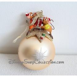 Boule de Noël souris Cendrillon DISNEY doré décoration de sapin