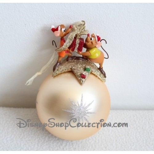 Boule de no l souris cendrillon disney dor d coration de - Sapin de noel disney ...